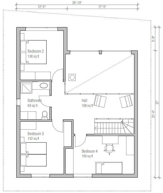 Plantas de casas com escadas - Pesquisa Google