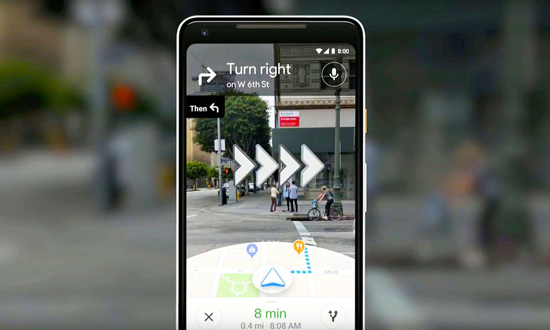 Google shows off its cameraenabled navigation system