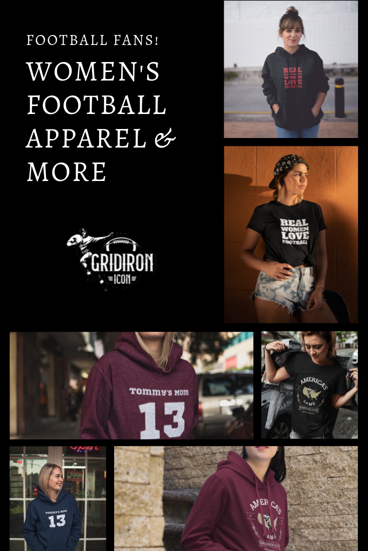 Women S Football Game Outfits I Women S Football Shirts I Women S Football Hoodies Womens Football Football Outfits Womens Football Shirts