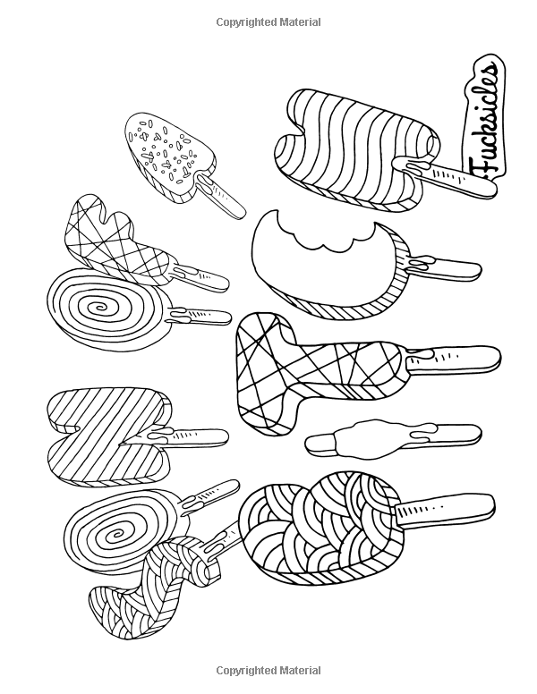 Swear Word Coloring Book Fucksicles For Fans Of Adult Coloring