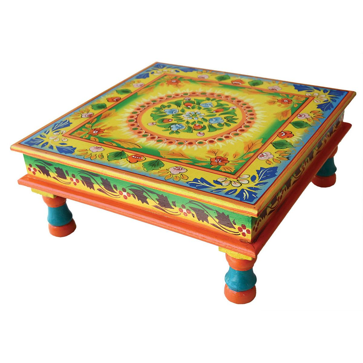 Indira Hand Painted Low Table By Karma Living