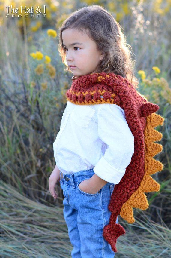 Crochet PATTERN - Lucky Dragon Hood & Cowl - crochet hood pattern ...
