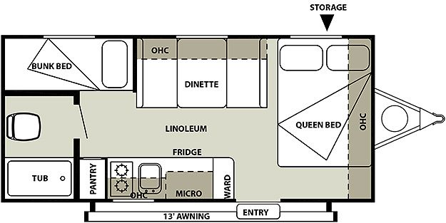 I Like The Queen Bed Bunks And Shower Size Awning Uvw 3003 Gvwr