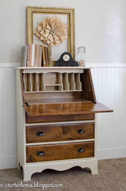 Vintage Fold Down Desk Start At Home Decor Repurposed Furniture Fold Down Desk Refurbished Furniture