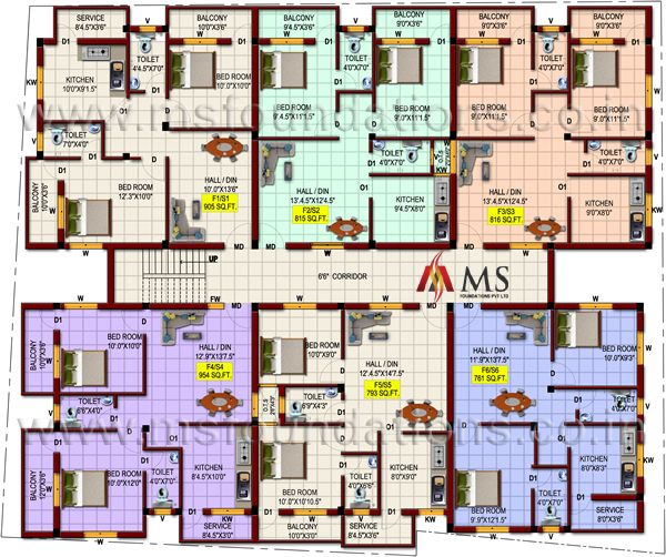 B Block First Floor Plan Of Samta Flats Apartments Karyanchavadi Chennai Block Plan House Plans Mansion Architectural House Plans