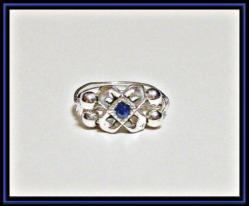 Custom Sized, Swarovski Color Choice, .925 SF and SP Wire Wrapped Ring | JewelryByJoanne - Jewelry on ArtFire