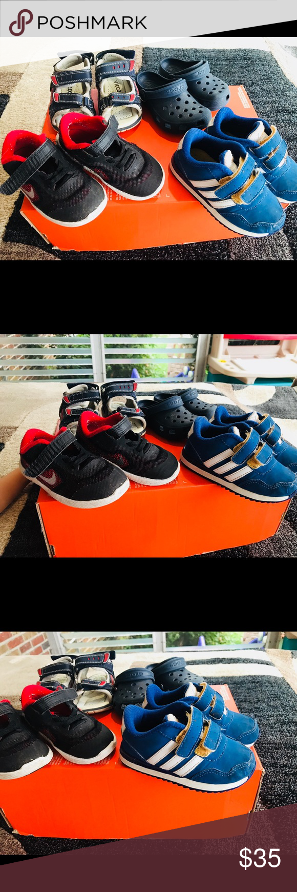 Clothing, Shoes & Accessories Kids' Clothing, Shoes & Accs Toddler Sandals Size 6 Adidas Croc Brand New