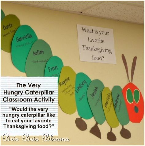 Classroom Fun: The Very Hungry Caterpillar {wall display, book, and ...