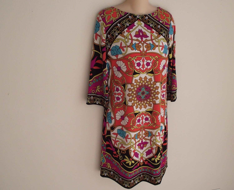 Vintage Dress Nicole Miller Mod Pucci