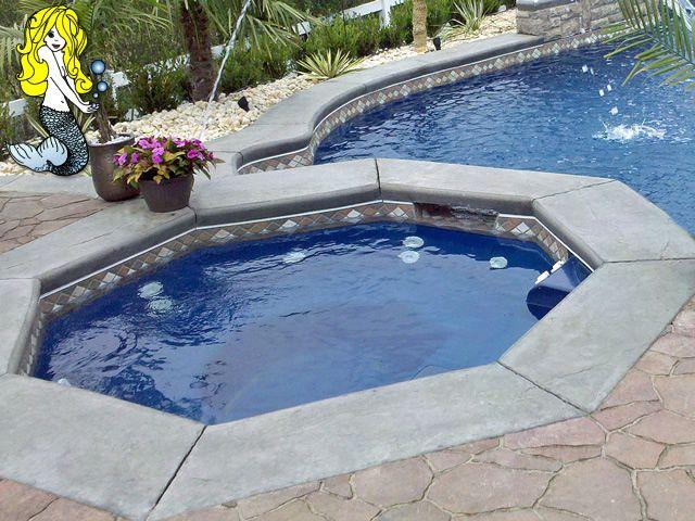 Octagon Fiberglass Spa - Fiberglass Swimming Pool - Pool with Spa ...