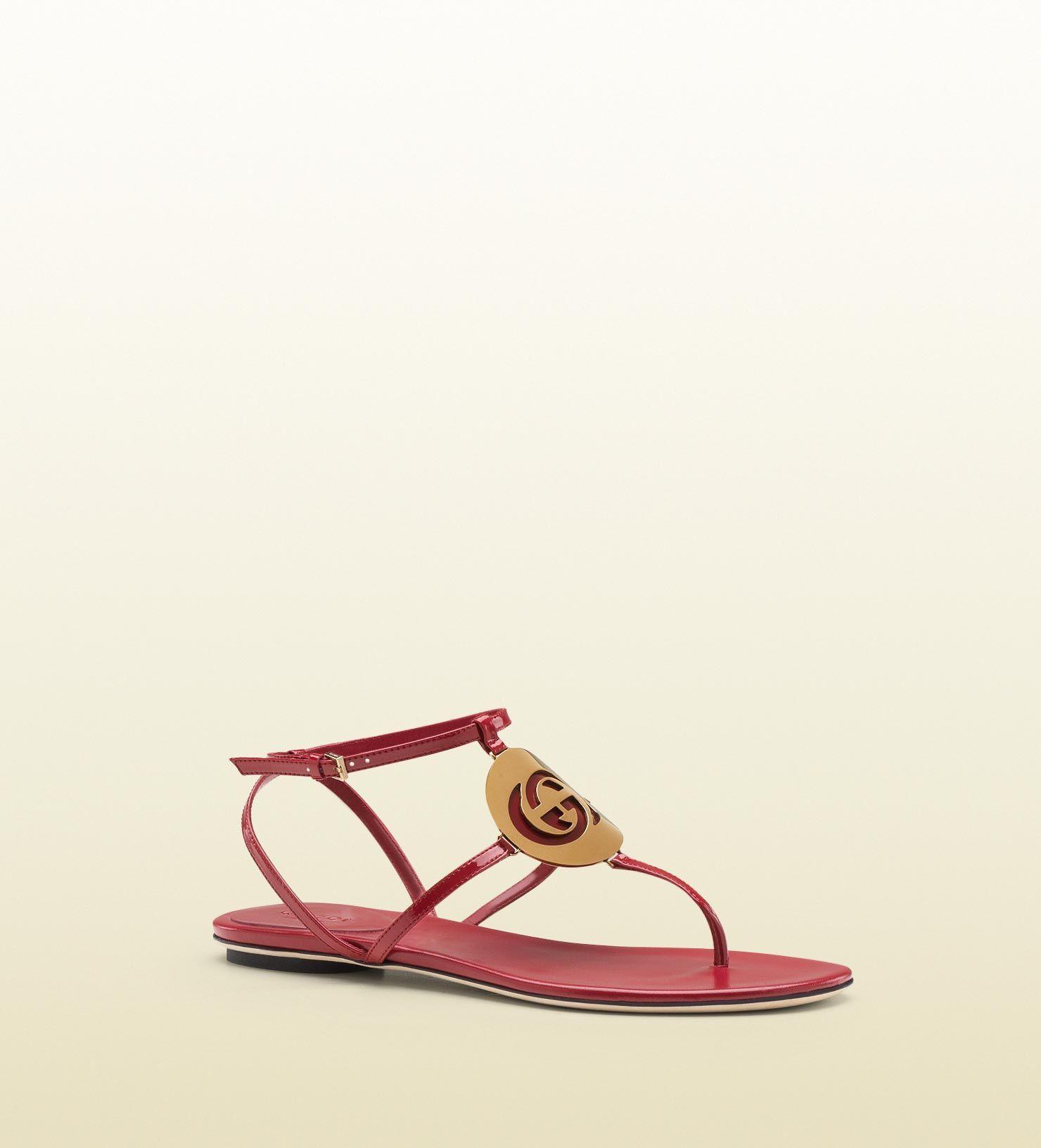 7c9b3fb13d3 Gucci - new GG cage interlocking G disc flat thong sandal 296088BNC006233