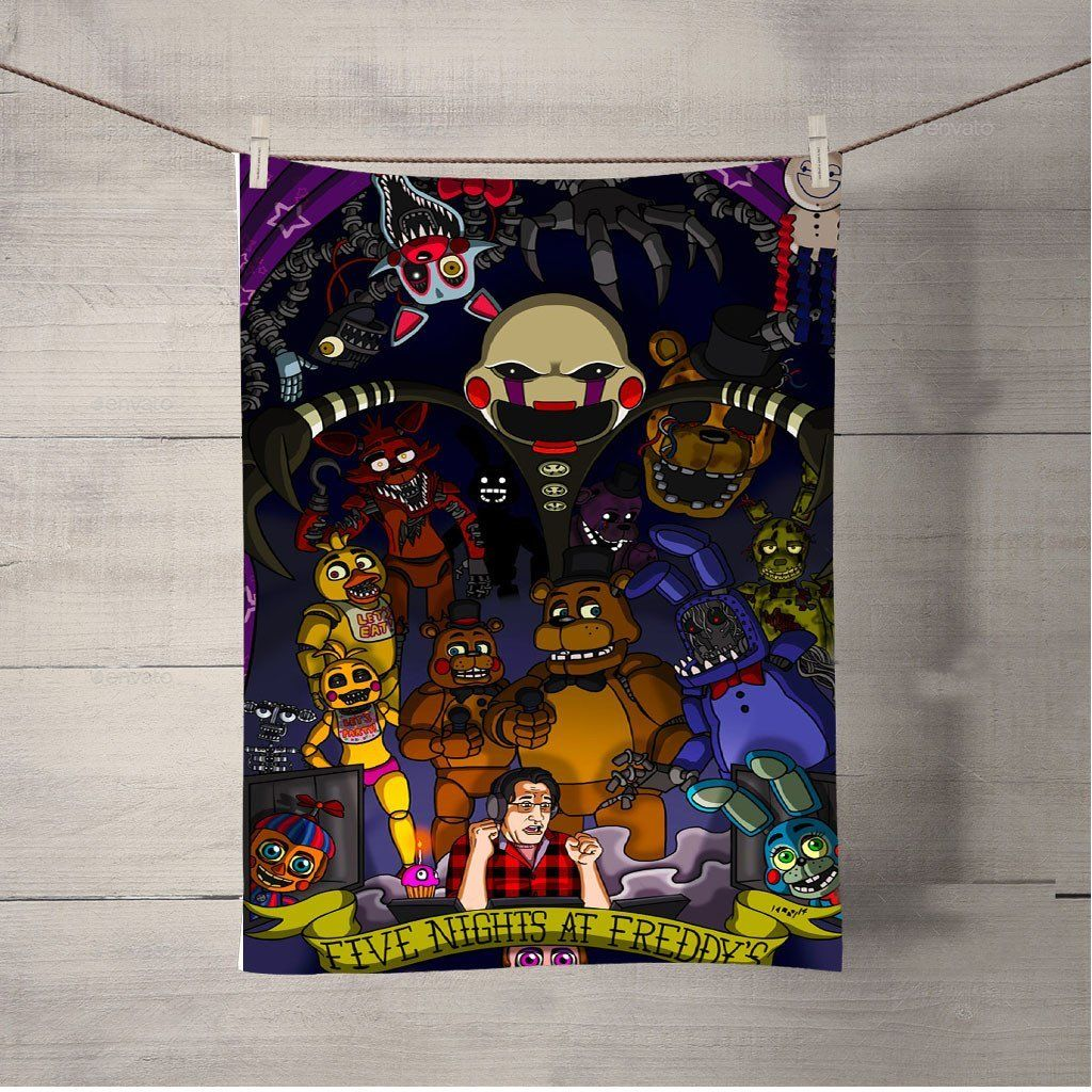Five Nights at Freddys Beach Towel