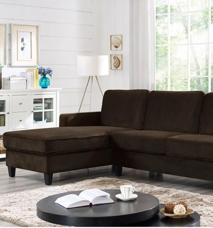 The cozy Hamilton Reversible Fabric Chaise Sectional features soft microfiber with high density foam seats for comfortable seating. A sturdy hardwood frame makes this handsome sectional a lasting part of your home along with adding the style it deserves.