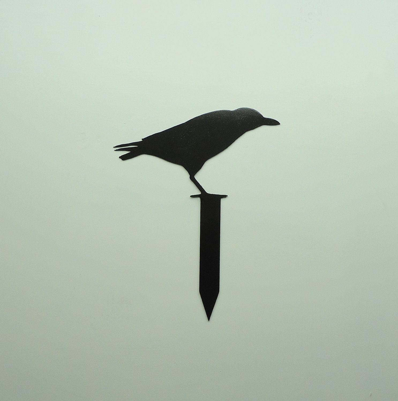 black raven yard stake - free usa shipping | crows, ravens and yards