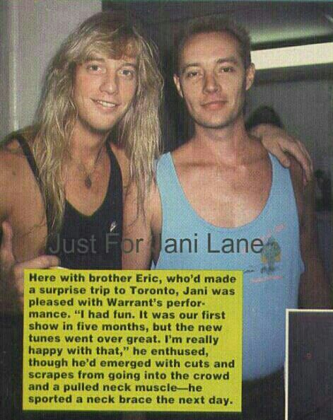 Jani and his brother Eric | Everything Jani Lane | Jani lane
