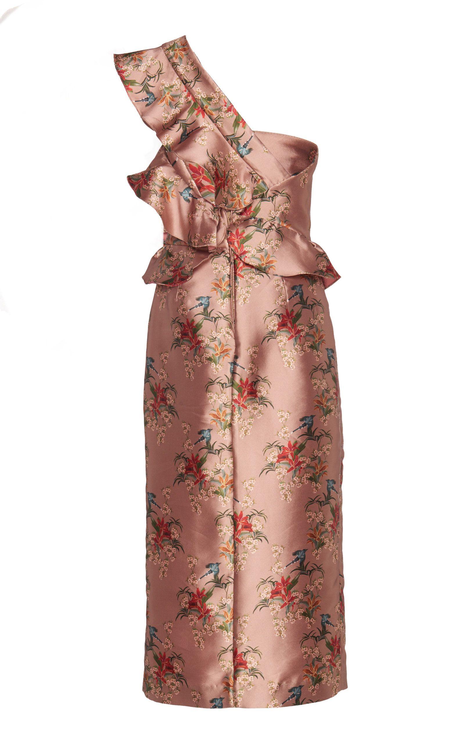 Double faced satin la divinidad dress by johanna ortiz for preorder