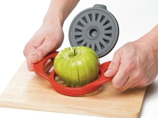 Progressive Prepworks Thin Apple Slicer, Red Apple