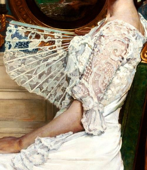 Traveling through history of Art...Portrait of Mildred Stokes, detail, by William Sergeant Kendall, 1901.