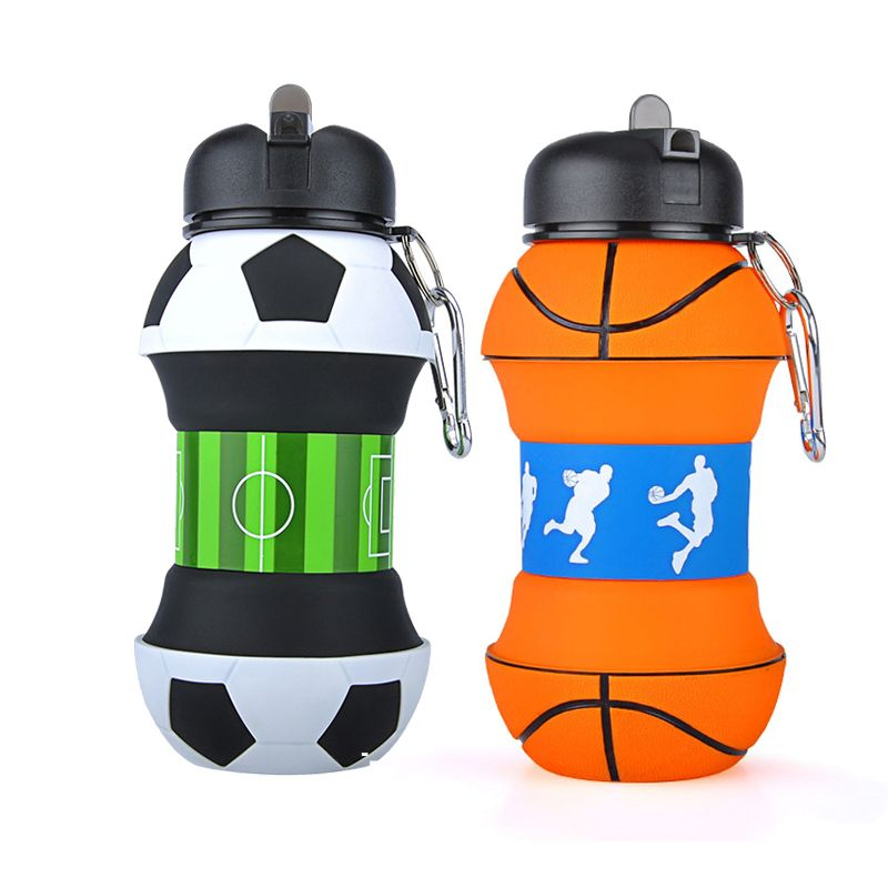2019 Creative Plastic Football Sports Water Bottle With