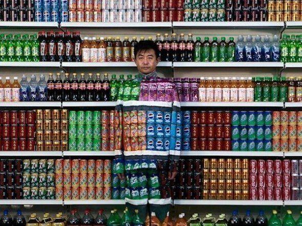 Traje de camuflaje para el supermercado