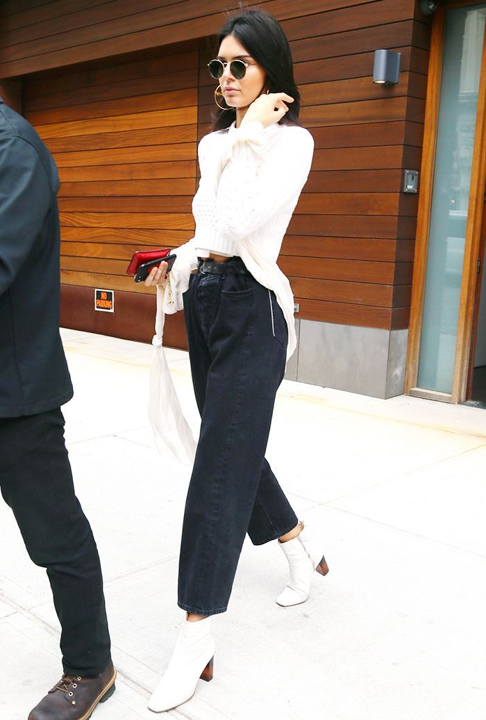 8ea543911d19 Kendall Jenner says this hard-to-pull-off shoe looks best with cropped  jeans.