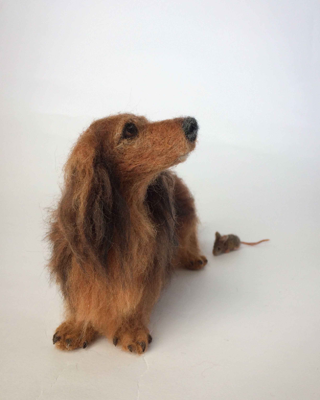 Needle Felted Dog Felted Dachshund