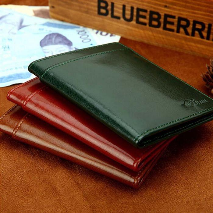 NewNew Arrival Men Women Leather Card Cash Receipt Holder - cash receipt