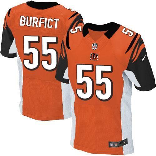 Nike Elite Vontaze Burfict Orange Men's Jersey - Cincinnati ...