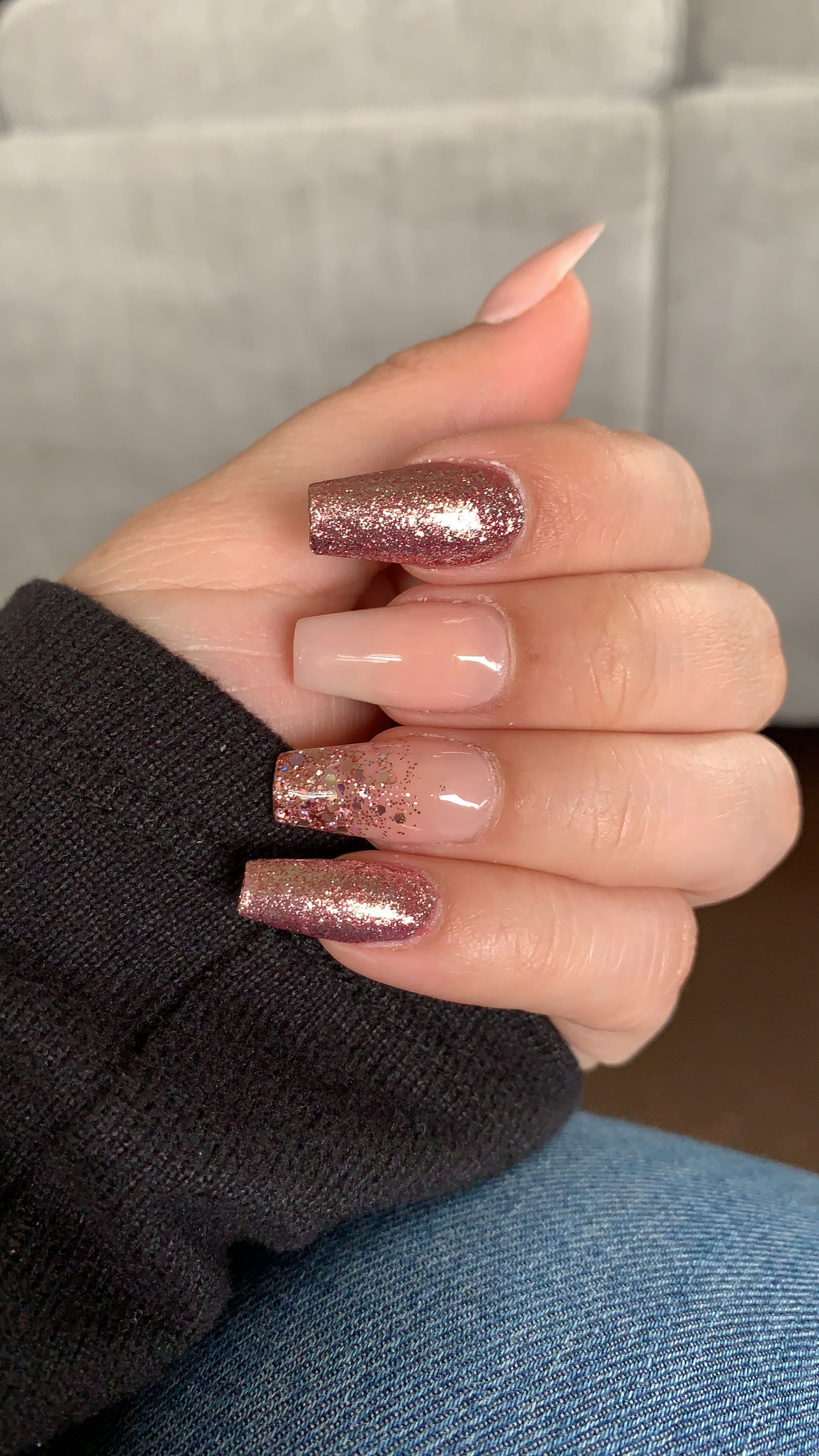 7 Best Rose Gold Nails Acrylic Ideas Nails Gold Nails Rose Gold Nails