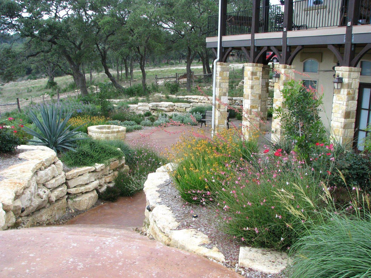 texas landscape plants | Hill Country style home and an all Native ...