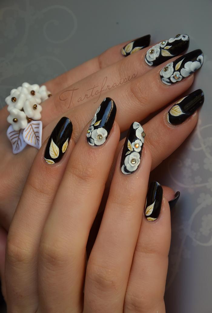 Nail art fleurs sakura en gel 3D | Tartofraises | Nails | Pinterest ...