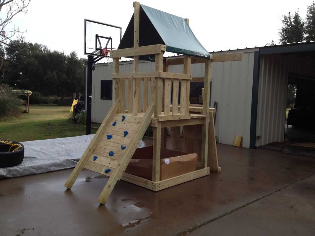 How to Build DIY Wood Fort and Swing Set Plans From Jack's