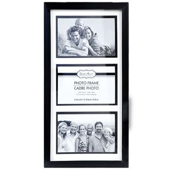 Bulk Special Moments Black 3-Picture Collage Frames at DollarTree ...