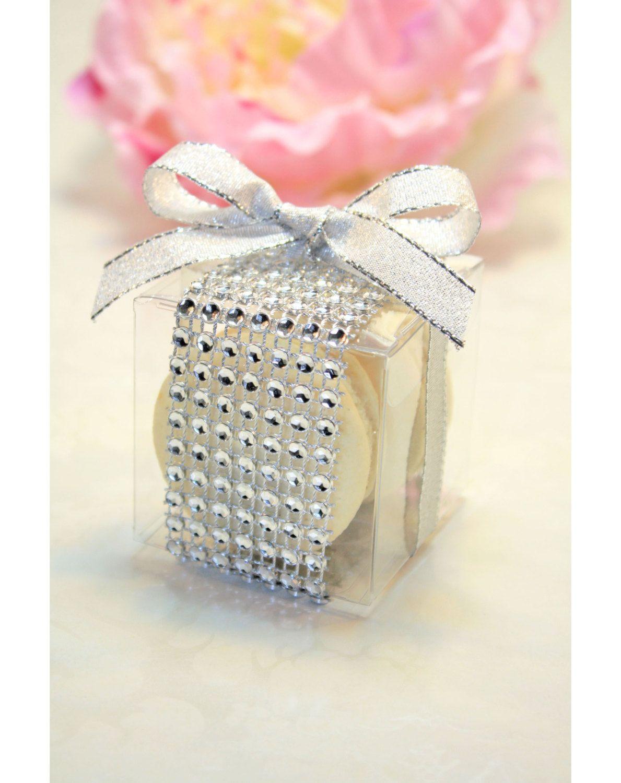Wedding Favors, Macaron Box, Favor Boxes - Set of 30 Rhinestone box ...