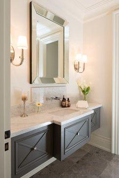 Onaway Residence Powder Room Vanity Bathroom Decor Modern Bathroom Design