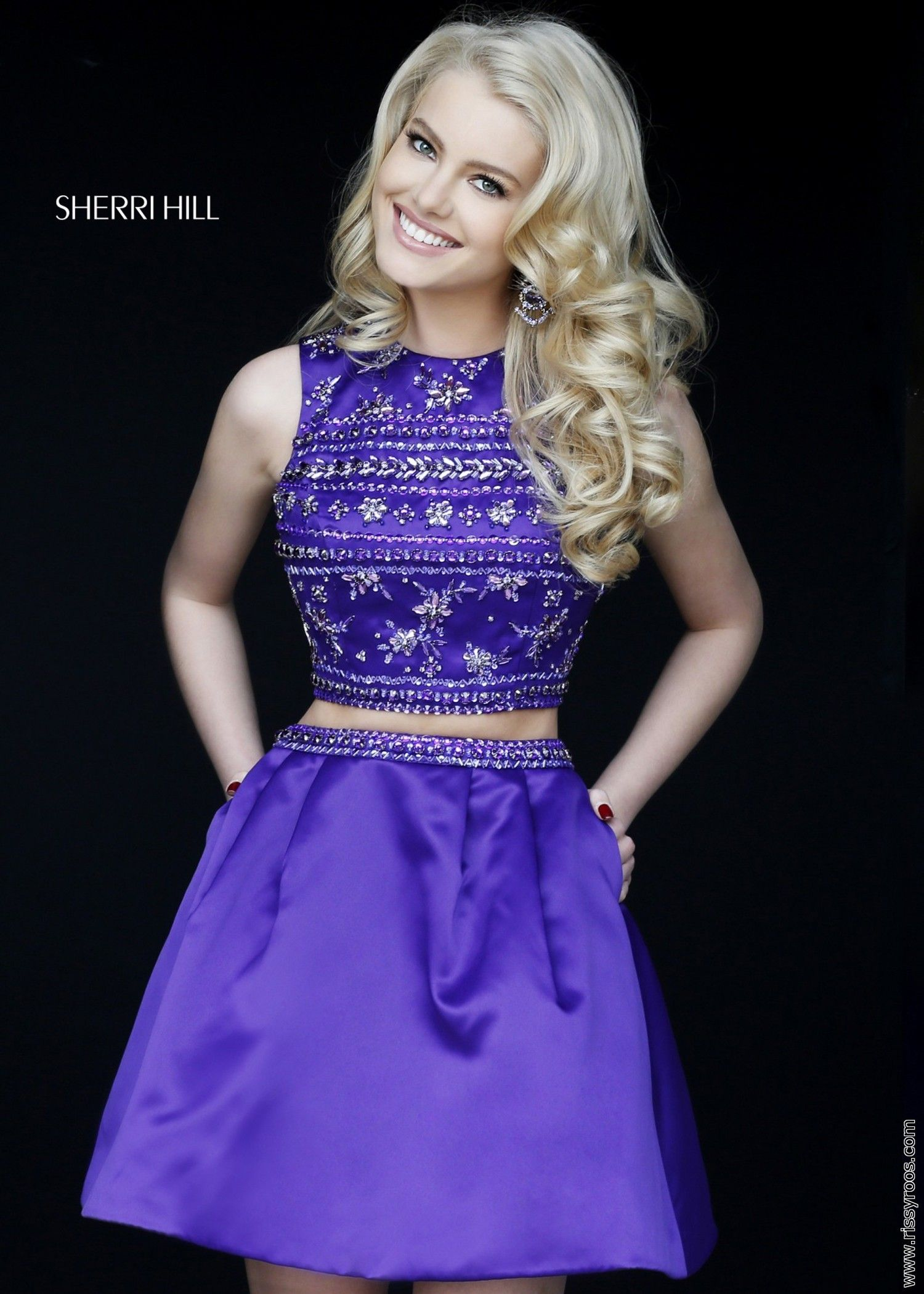 Sherri Hill 32269 Two Piece Crop Top Dress | Homecoming Dress ...