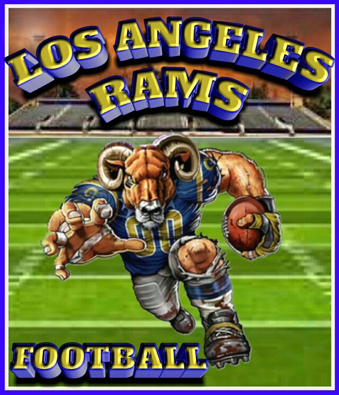 Pin by Armando Vega on RAMS Rams football, Los angeles