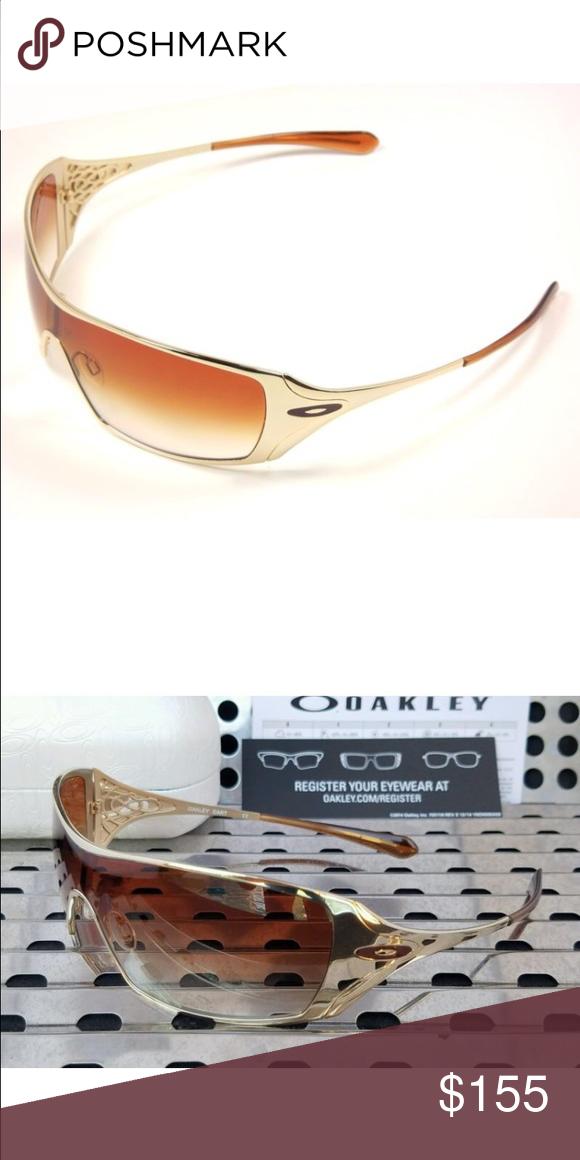 Oakley Women\'s Dart gold sunglasses Authentic NWT NWT