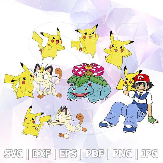 "2/""-5/"" Pokemon pikachu anime heat transfer iron on character"