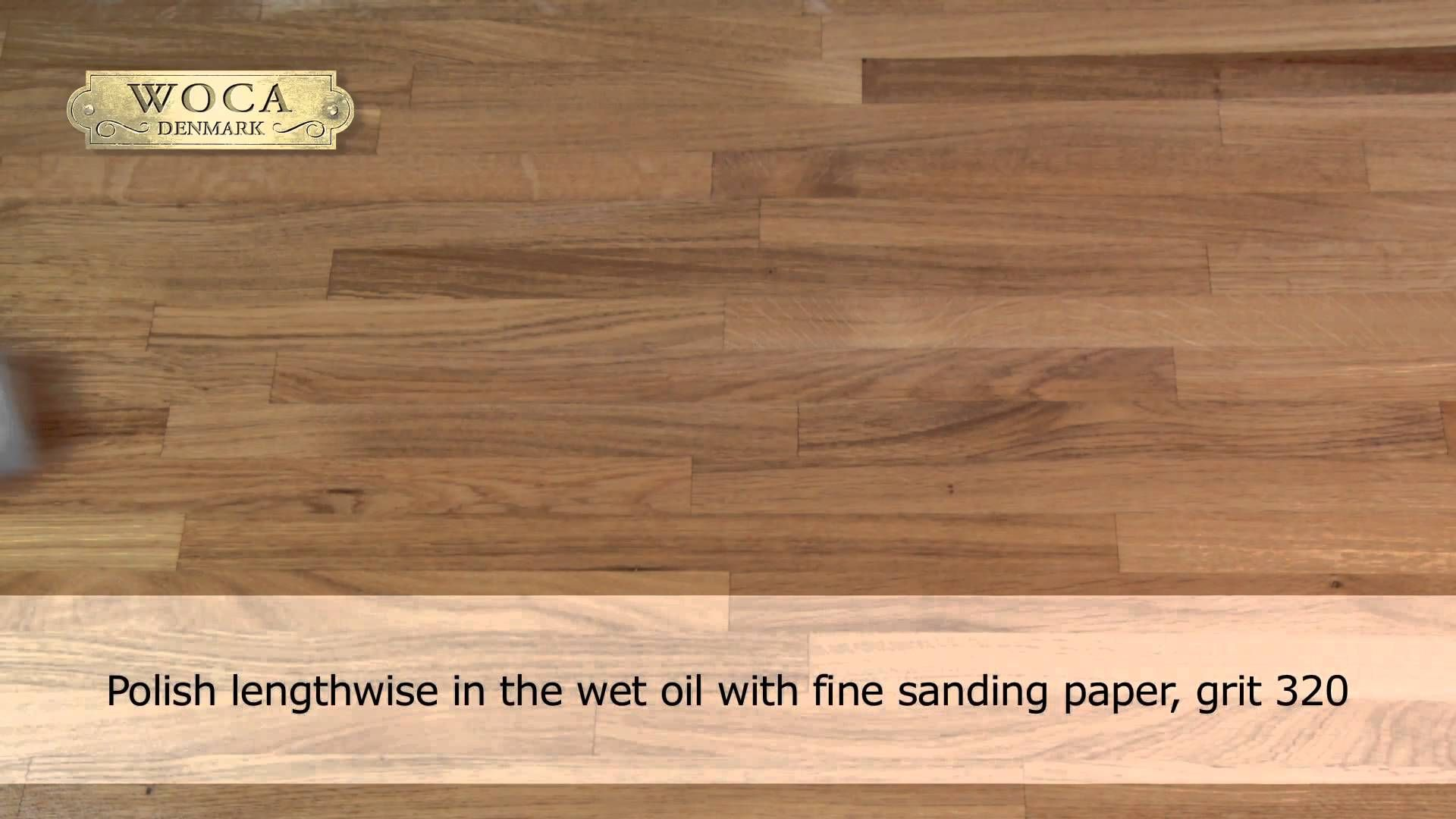 How To Apply Woca Worktop Oil For Untreated Or Previously Oiled Sanded Wood Surfaces Wood Care Wood Surface Oil Sands