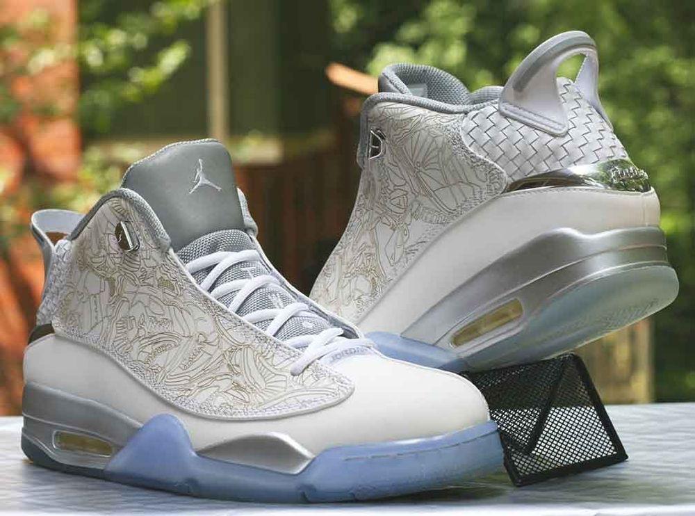 1cdd82229b Air Jordan Dub Zero Laser Retro White Metallic Silver 705413-100 Men's Size  10 #Jordan #BasketballShoes