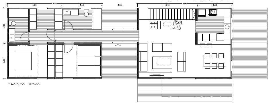 Modelo OPTIMA 150 m2 3 habitaciones con 3 baños | Planos Modernos ...