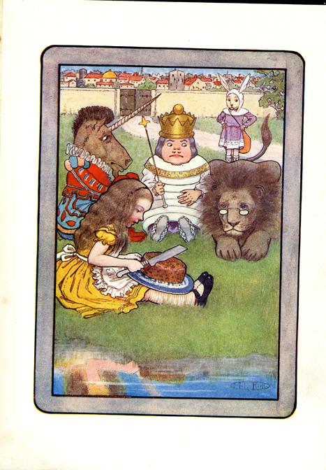 "Maria Kirk illustration for ""Alice in Wonderland"", via eBay"