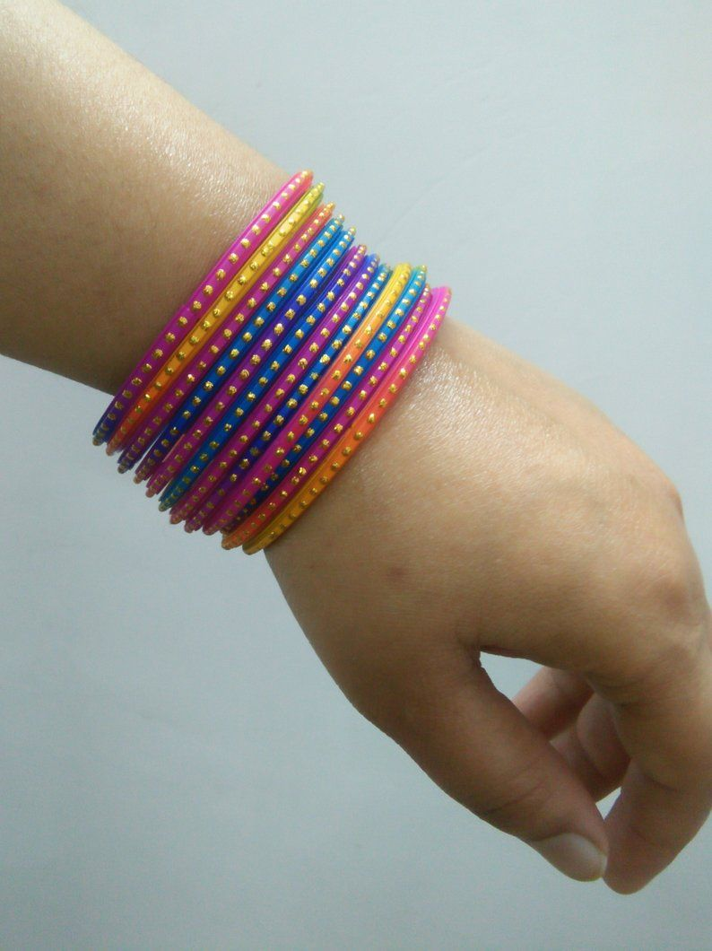 Beaded Glass Bangle Multi Color Bangle Bangles For Women Indian