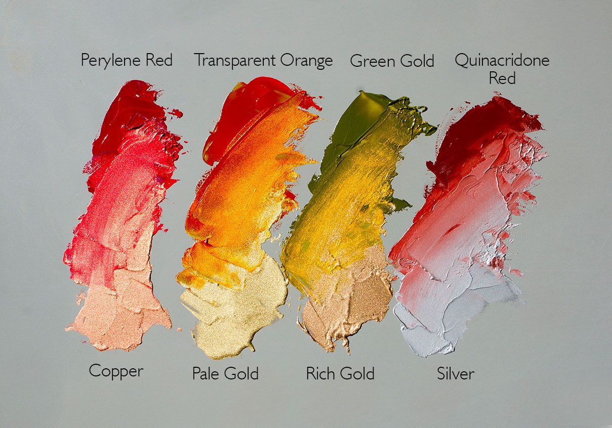 Metallic Oil Paint Copper Silver Gold Colorful Oil