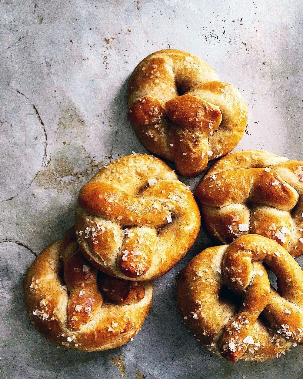 Soft and Chewy Sourdough Pretzels Sourdough soft pretzel