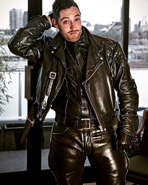 Black leather jackets for men