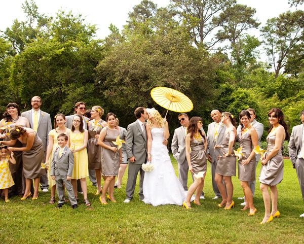 Brown And Yellow Wedding Party Colors Traditional Pose Pinterest Weddings