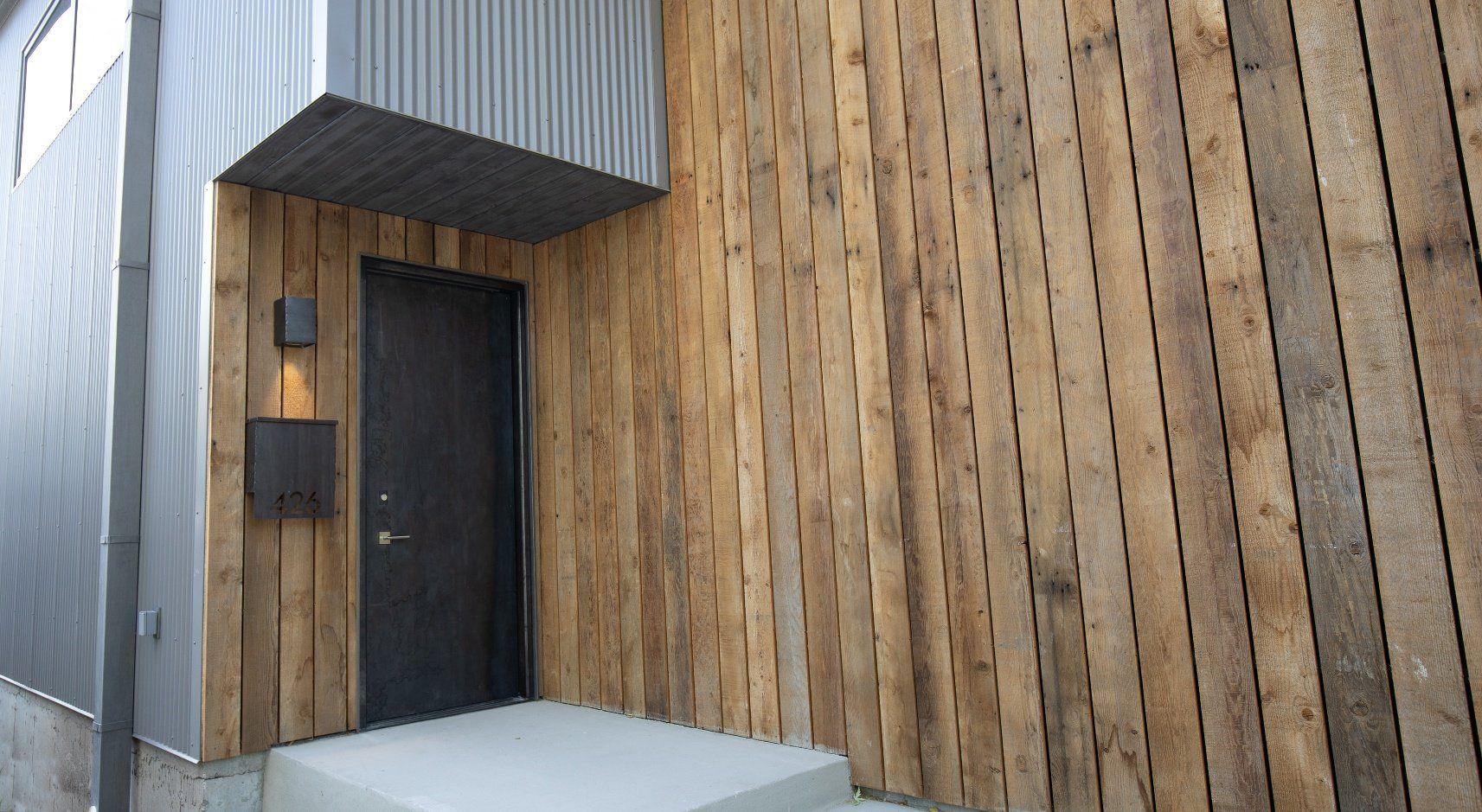 Using Metal Siding On A Modern Home House Cladding Metal Siding Modern House