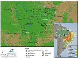 A Map Of Where The Kayapo Live Map Rainforest People World Map